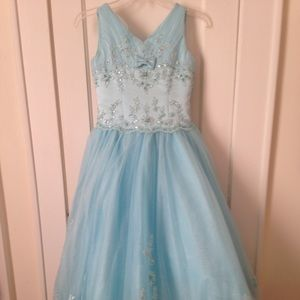Tiffany Designs Pageant Dress - Blue